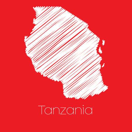 tanzania: A Map of the country of Tanzania Tanzania Stock Photo