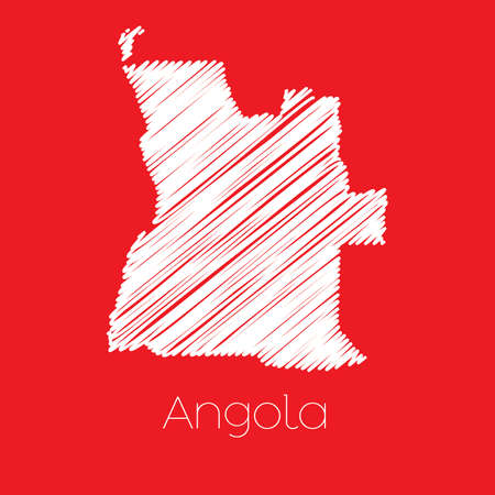 map of angola: A Map of the country of Angola Illustration