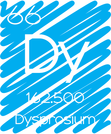 halogens: An Informative Illustration of the Periodic Element - Dysprosium