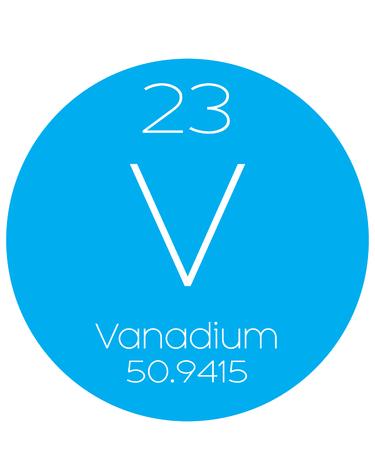 vanadium: An Informative Illustration of the Periodic Element - Vanadium Illustration