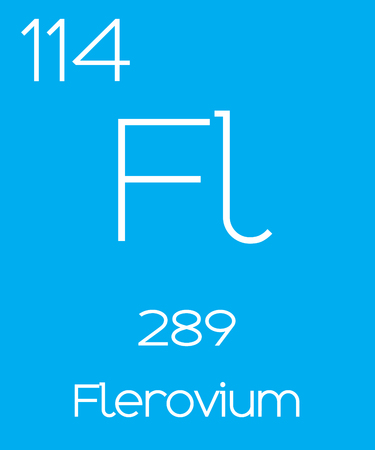 actinides: An Informative Illustration of the Periodic Element - Flerovium Illustration