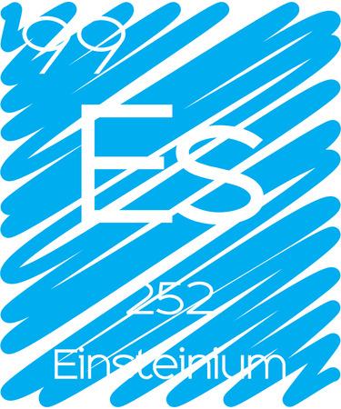 actinides: An Informative Illustration of the Periodic Element - Einsteinium