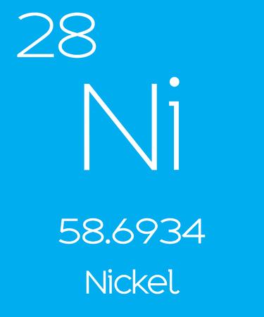 nickel: An Informative Illustration of the Periodic Element - Nickel Illustration