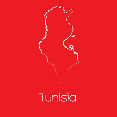 tunisia: A Map of the country of Tunisia Illustration
