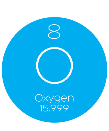 actinides: An Informative Illustration of the Periodic Element - Oxygen Illustration