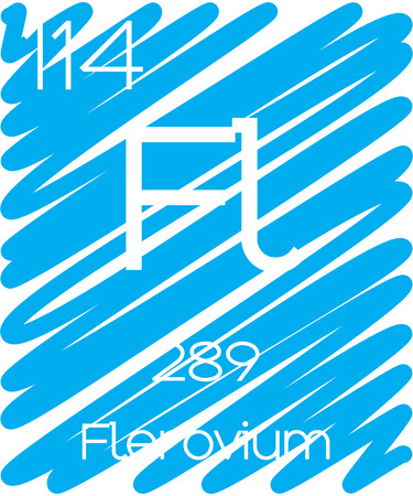 An Informative Illustration of the Periodic Element - Flerovium Illustration