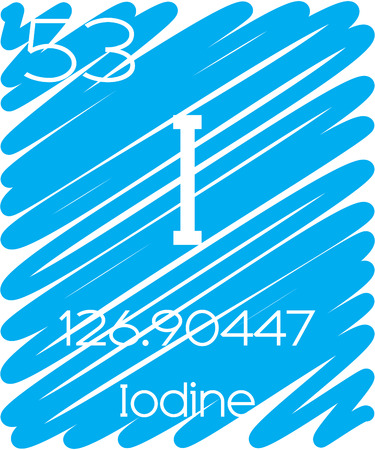 iodine: An Informative Illustration of the Periodic Element - Iodine Illustration