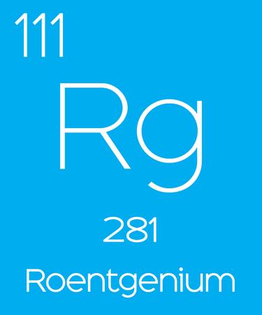 halogens: An Informative Illustration of the Periodic Element - Roentgenium Illustration