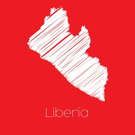 liberia: A Map of the country of Liberia