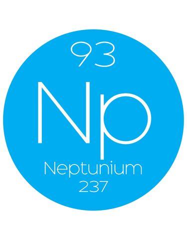 halogens: An Informative Illustration of the Periodic Element - Neptunium Illustration