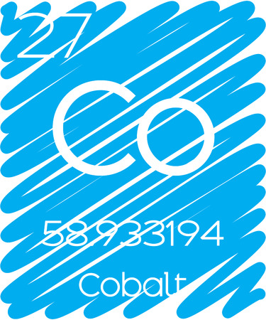 actinides: An Informative Illustration of the Periodic Element - Cobalt Illustration