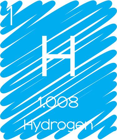 hidrogeno: Una ilustraci�n Informativo del Elemento Pedic - Hidr�geno