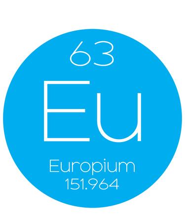halogens: An Informative Illustration of the Periodic Element - Europium Illustration