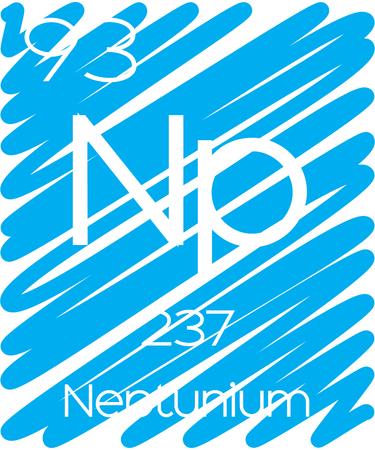 periodic element: An Informative Illustration of the Periodic Element - Neptunium Illustration