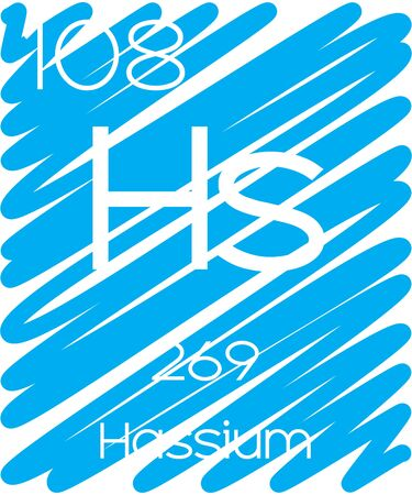 actinides: An Informative Illustration of the Periodic Element - Hassium Illustration