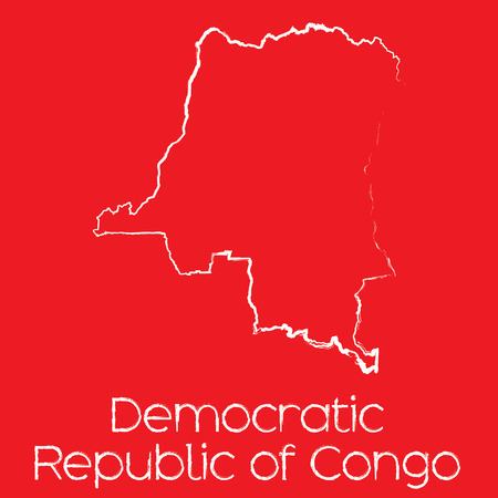 democratic: A Map of the country of Democratic Republic of Congo Illustration