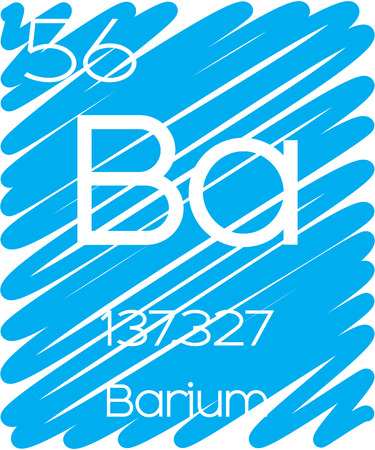An Informative Illustration of the Periodic Element - Barium