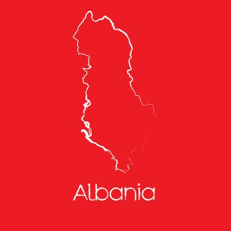 albanie: Une carte du pays de l'Albanie