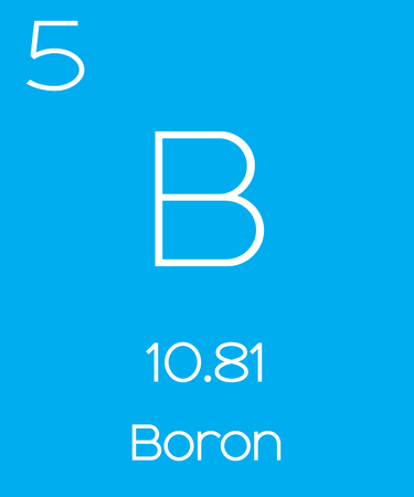 An Informative Illustration Of The Periodic Element Boron Royalty