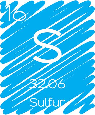 periodic element: An Informative Illustration of the Periodic Element - Sulfur Illustration