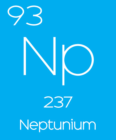 actinides: An Informative Illustration of the Periodic Element - Neptunium Illustration