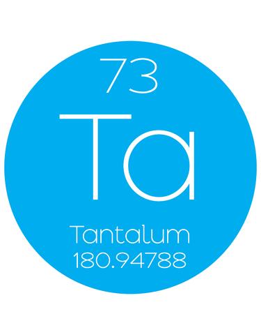 periodic element: An Informative Illustration of the Periodic Element - Tantalum Illustration