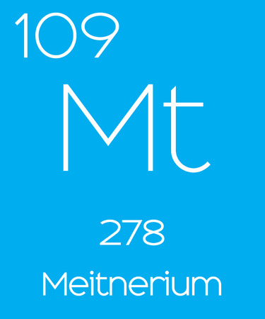 atomic number: An Informative Illustration of the Periodic Element - Meitnerium