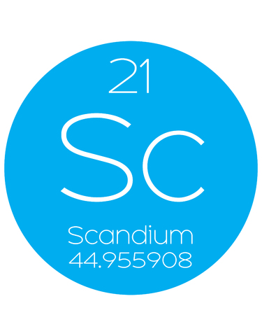 actinides: An Informative Illustration of the Periodic Element - Scandium Illustration