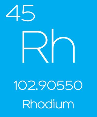 periodic element: An Informative Illustration of the Periodic Element - Rhodium