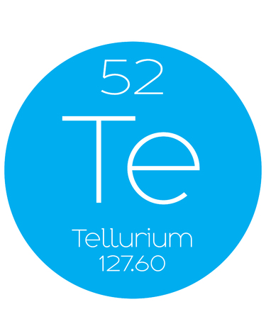 halogens: An Informative Illustration of the Periodic Element - Tellerium Illustration