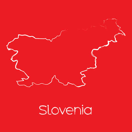 slovenia: A Map of the country of Slovenia Illustration
