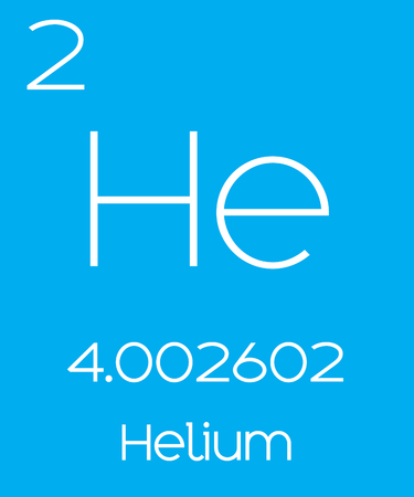 An Informative Illustration of the Periodic Element - Helium
