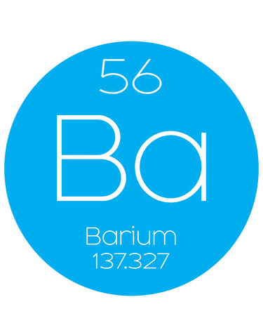 An Informative Illustration of the Periodic Element - Barium