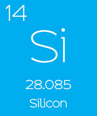 silicio: Una Ilustración Informativo del Elemento Periódica - Silicon