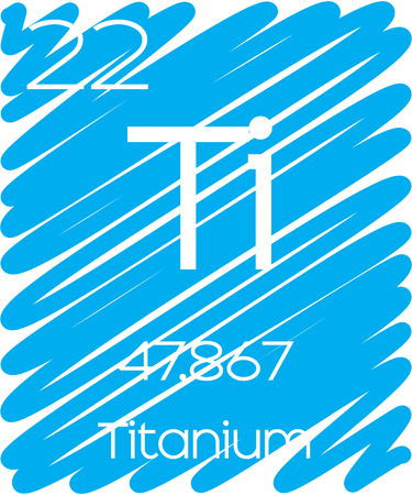An Informative Illustration of the Periodic Element - Titanium