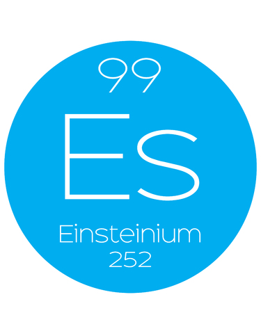 An Informative Illustration of the Periodic Element - Einsteinium