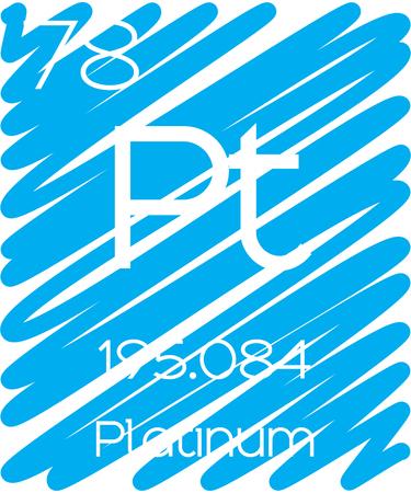 platina: Een informatieve Illustratie van het Periodiek Element - Platinum