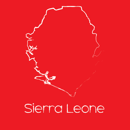 leone: A Map of the country of Sierra Leone Illustration