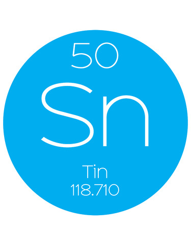 atomic number: An Informative Illustration of the Periodic Element - Tin Illustration