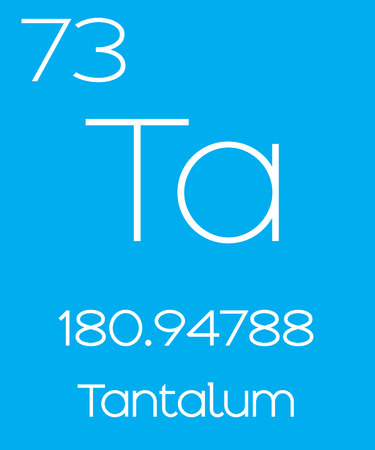 actinides: An Informative Illustration of the Periodic Element - Tantalum Illustration
