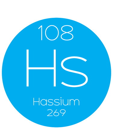 halogens: An Informative Illustration of the Periodic Element - Hassium Illustration