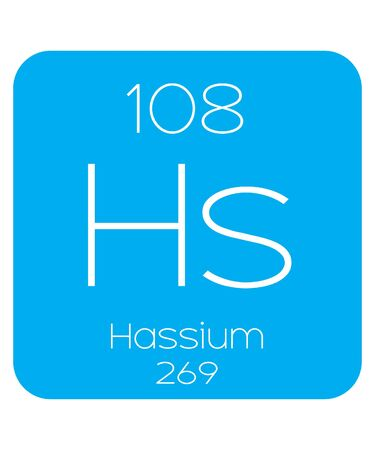 periodic element: An Informative Illustration of the Periodic Element - Hassium Stock Photo