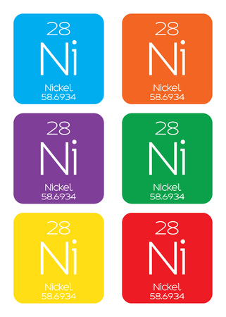 nickel: An Informative Illustration of the Periodic Element - Nickel Stock Photo