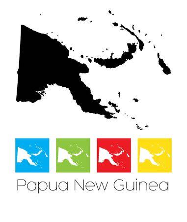 Nuova Guinea: La mappa del paese di Papua Nuova Guinea