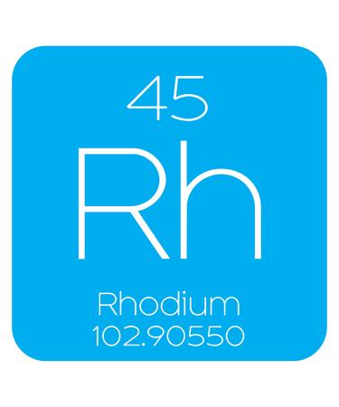 rhodium: An Informative Illustration of the Periodic Element - Rhodium
