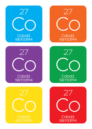 cobalt: An Informative Illustration of the Periodic Element - Cobalt Stock Photo