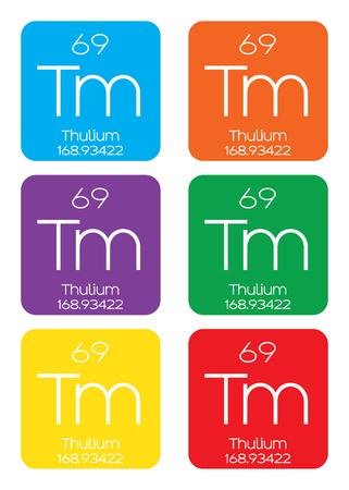 periodic element: An Informative Illustration of the Periodic Element - Thulium Stock Photo