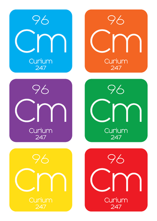 periodic element: An Informative Illustration of the Periodic Element - Curium Stock Photo