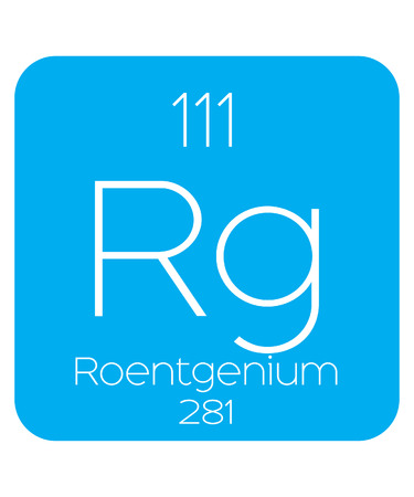 An Informative Illustration of the Periodic Element - Roentgenium Illustration