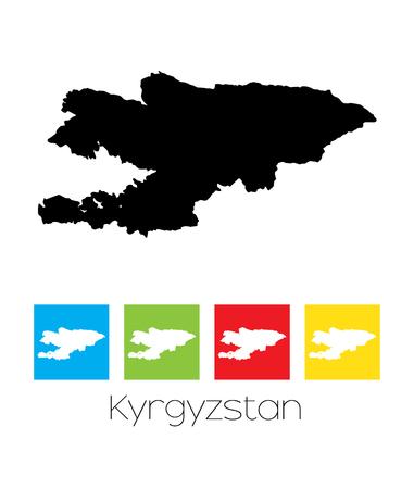 kyrgyzstan: Un mapa del país de Kirguistán